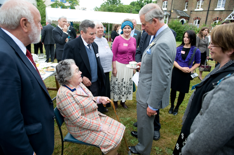 HRH The Prince of Wales meets residents